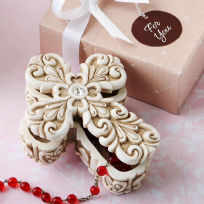 Baroque Design Vintage Cross Trinket Box